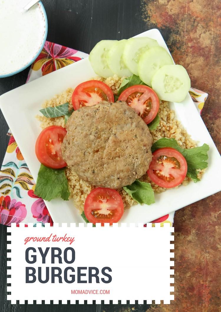 Ground Turkey Gyro Burgers from MomAdvice.com