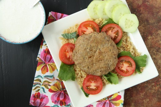 Ground Turkey Gyro Burgers