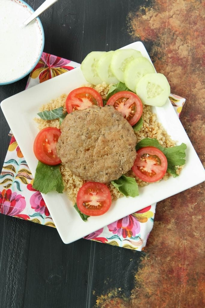Ground Turkey Gyro Burgers from MomAdvice.com