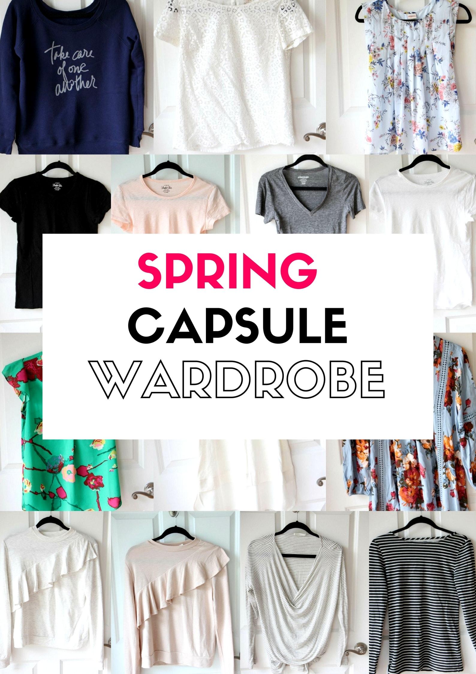 Spring 2017 Capsule Wardrobe from MomAdvice.com