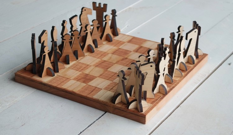 Solid Wood Chess Board Set