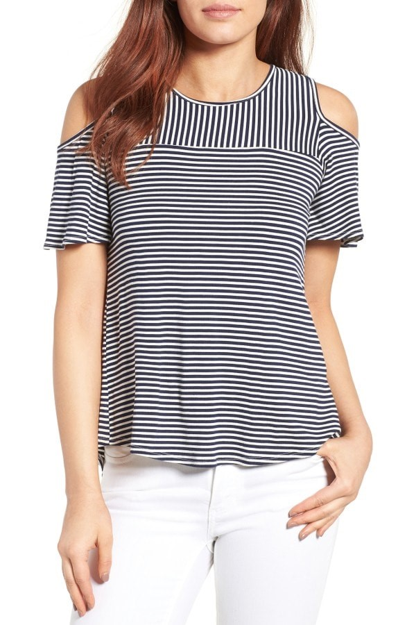 Cold Shoulder Stripes