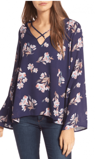 Lush Cross-Front Blouse