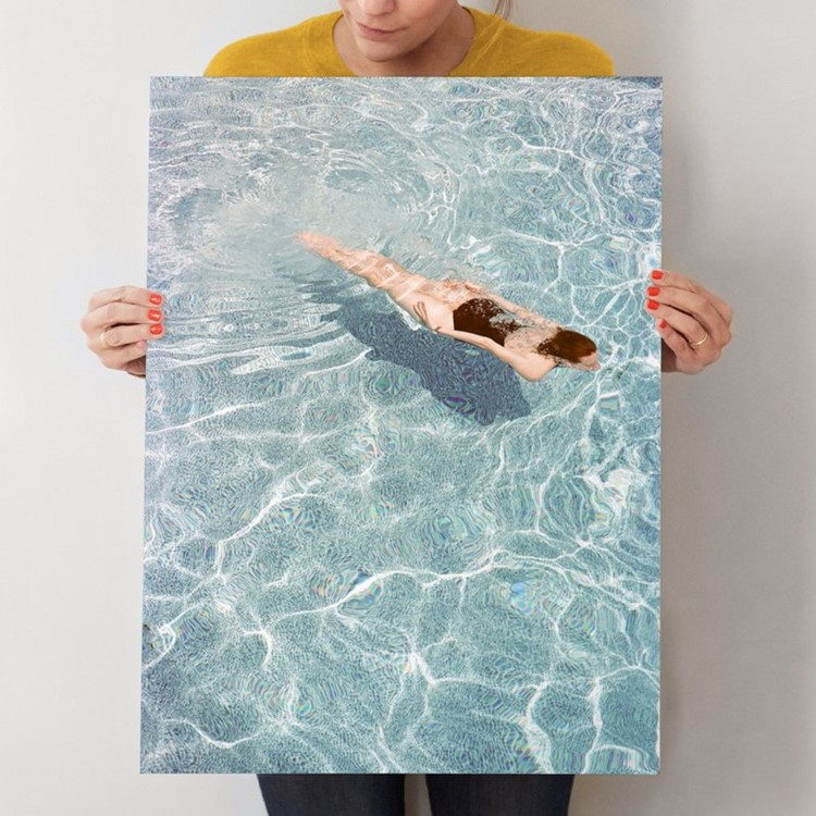 Going for a Swim Print