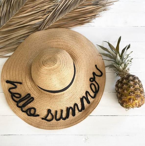 hello summer hat