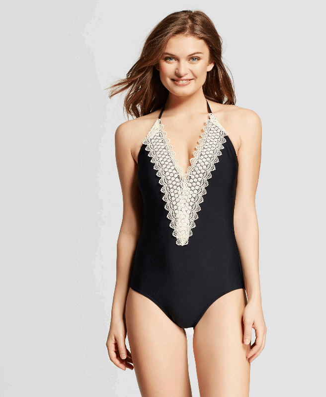 Lace Halter One Piece