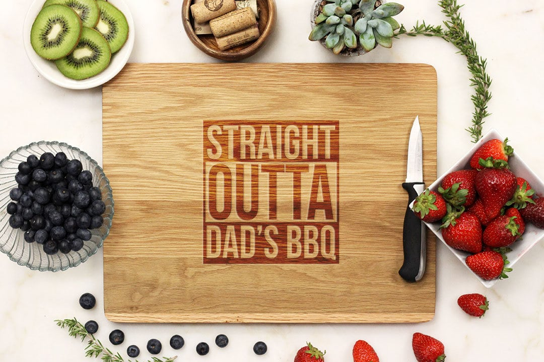 Straight Outta Dad's BBQ Cutting Board