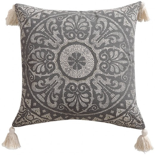 Taupe Medallion Pillows