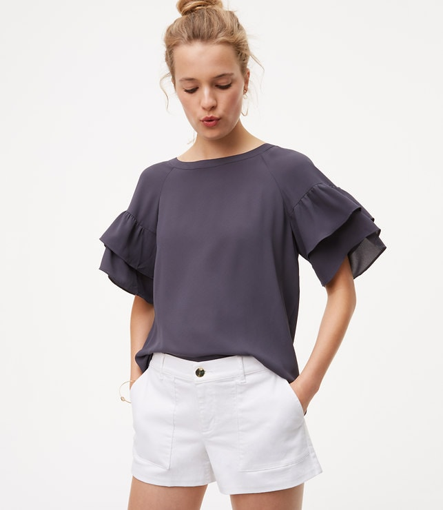 Tie Back Tiered Sleeve Top
