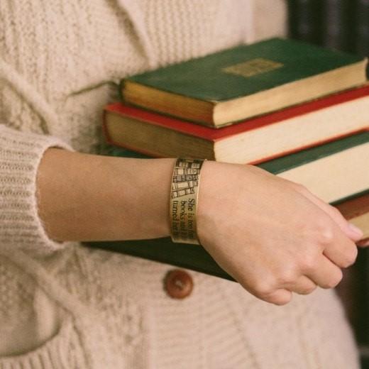 Too Fond of Books Cuff