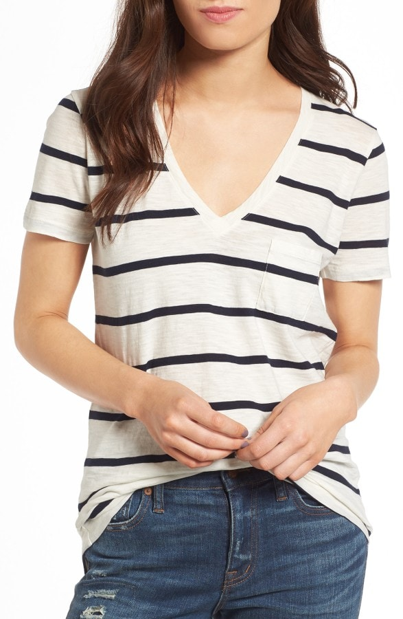 Whisper Cotton Stripes Tee
