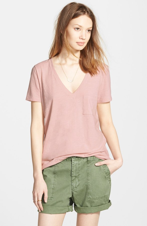 Cotton V-Neck Tee