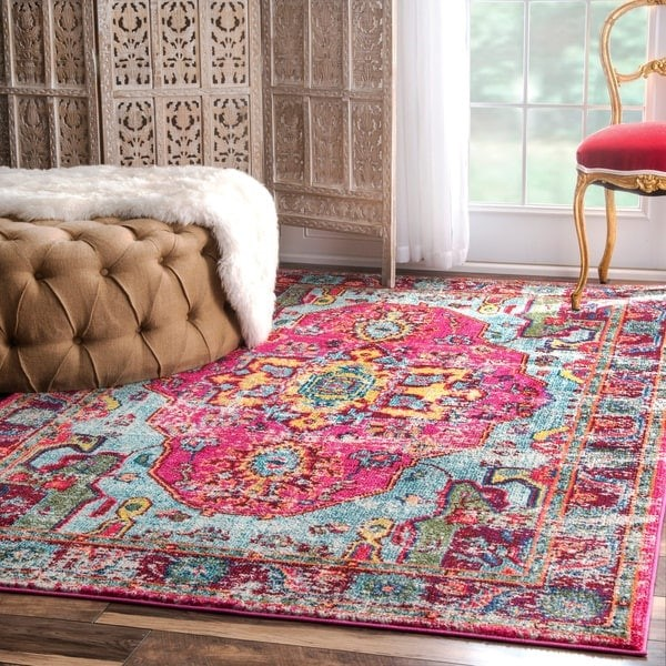 Distressed Abstract Oriental Rug