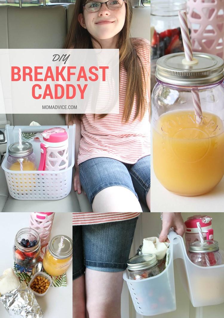 DIY Breakfast Caddy for Car from MomAdvice.com