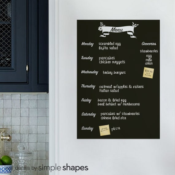 Menu Decal