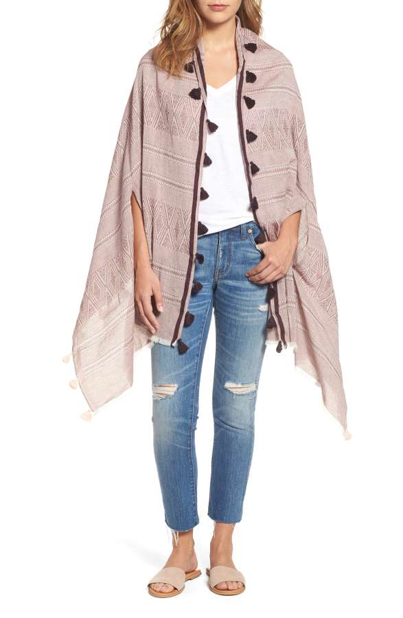 Striped Fringe Cape