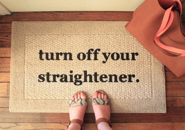 turn off your straightener mat