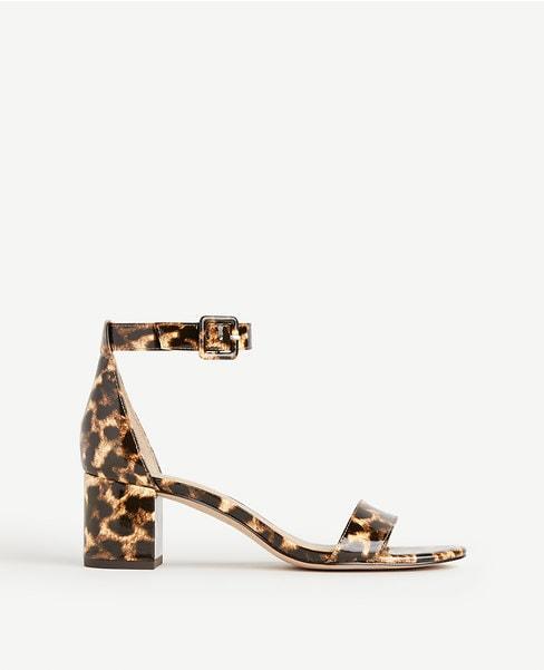Leopard Print Block Heel