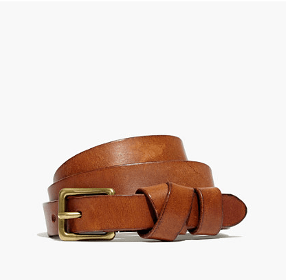 english saddle skinny belt