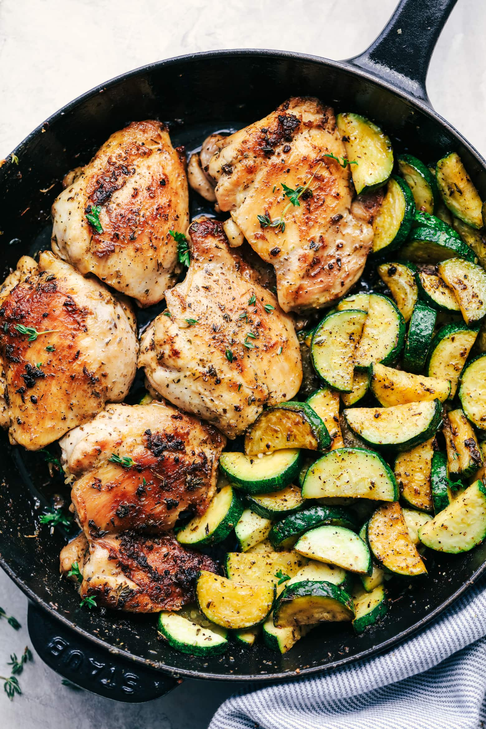 Garlic Herb Chicken With Zucchini