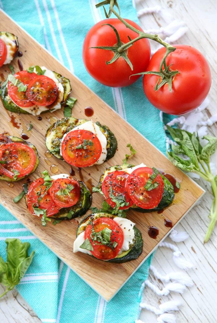 Grilled Caprese Zucchini