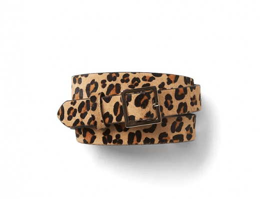 haircalf leopard belt