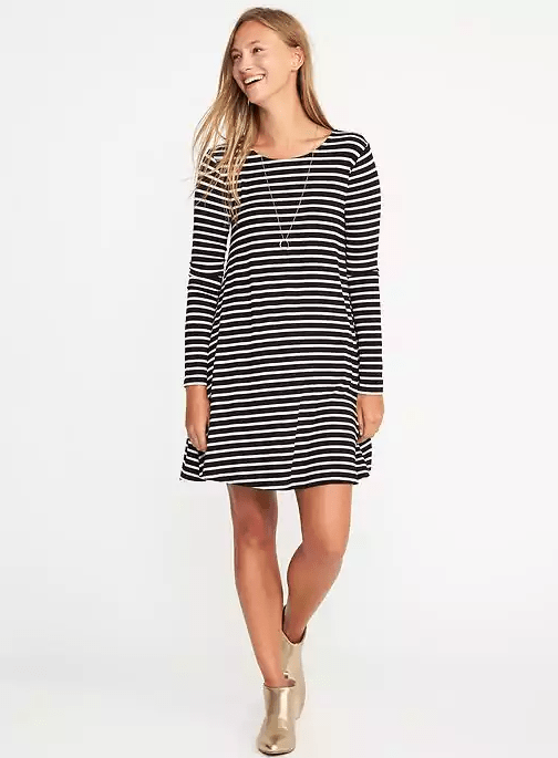Jersey Knit Swing Dress