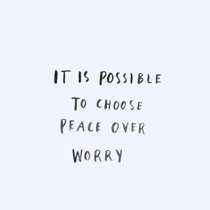Peace Over Worry