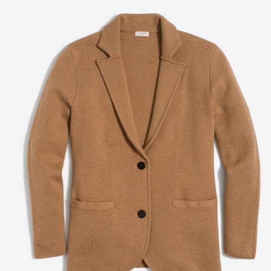 Camel Sweater Blazer