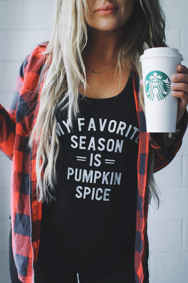pumpkin spice tee