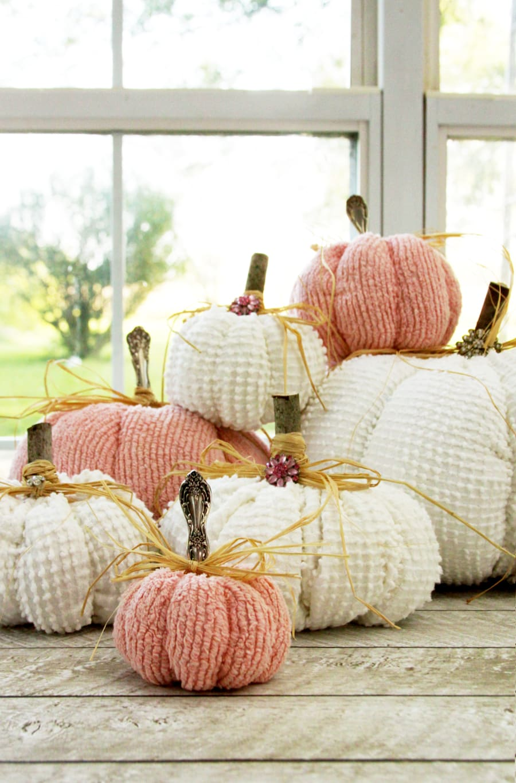 chenille pumpkins
