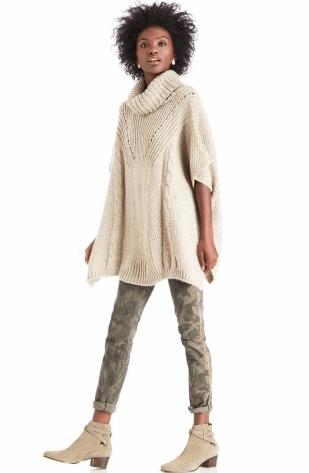 crochet eyelet poncho