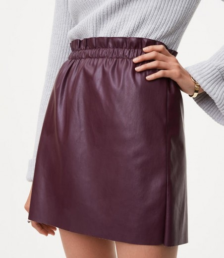 faux leather shift skirt