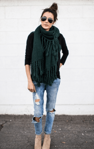 hunter green scarf