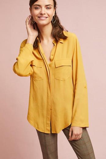 mustard buttondown