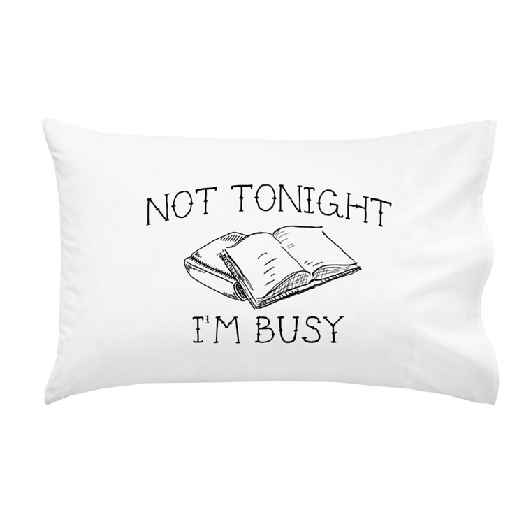 not tonight pillow