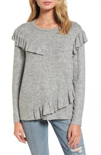 ruffled knit top