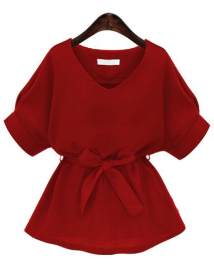 self-tie blouse