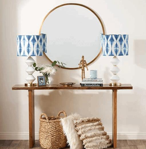 shibori lamps