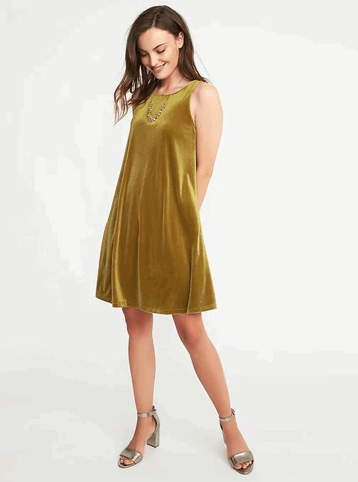 velvet swing dress