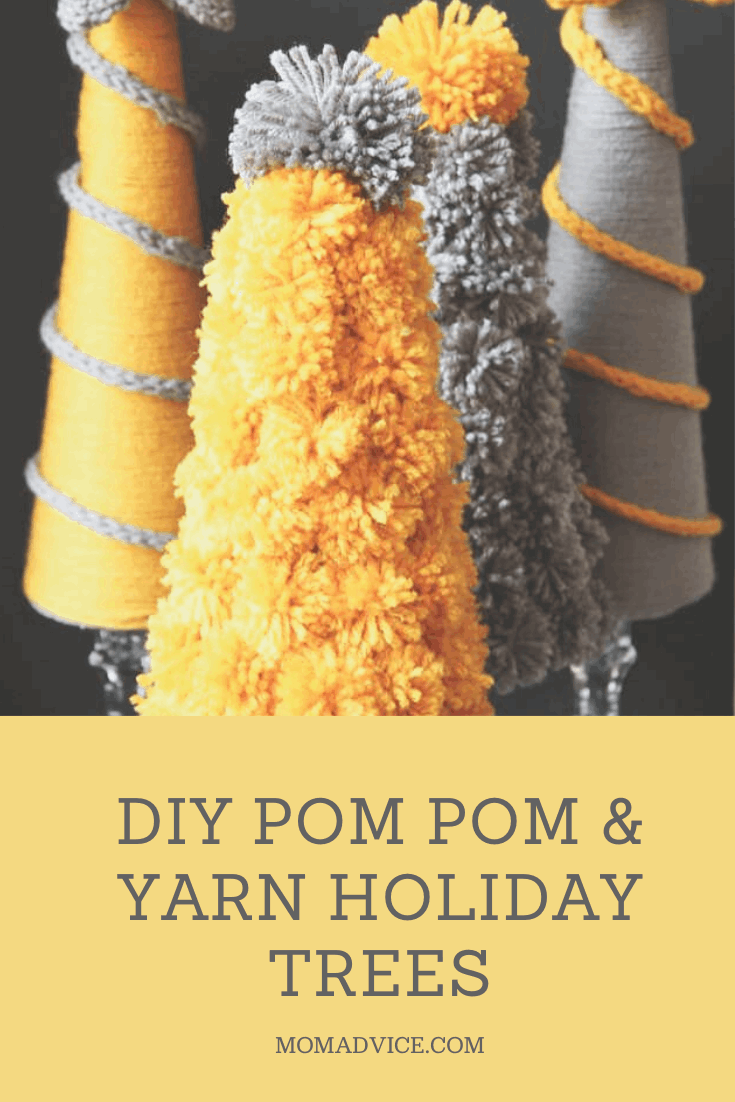 DIY yarn holiday trees MomAdvice.com