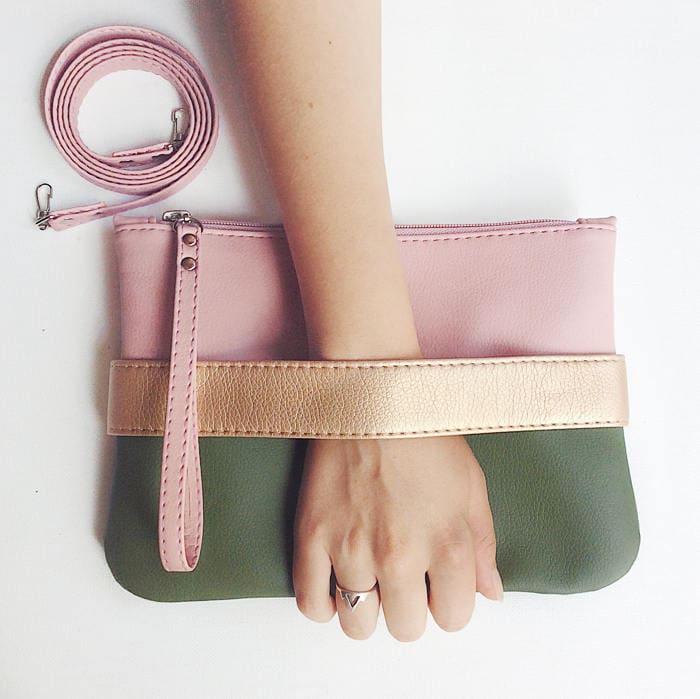 vegan clutch purse