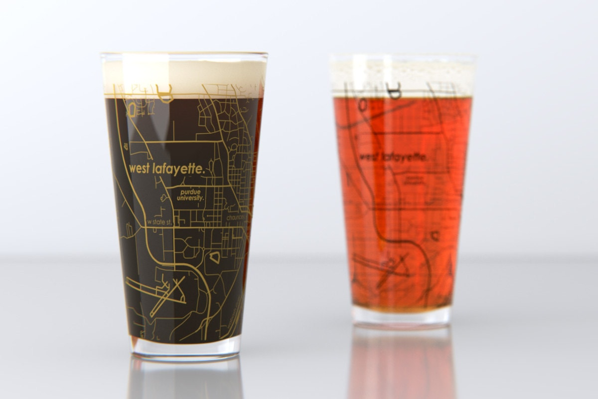 college town pint glasses