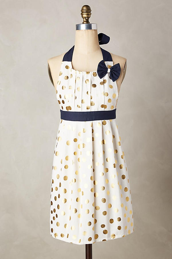 gold dot apron