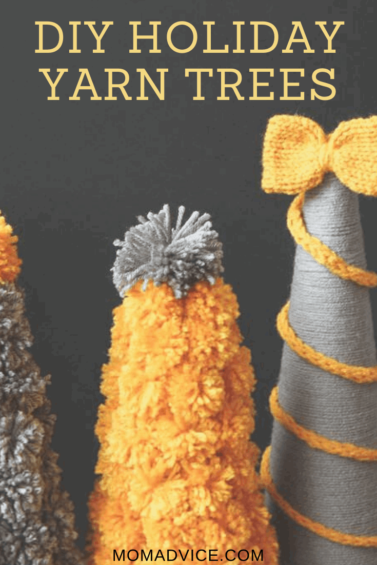 DIY Holiday yarn trees MomAdvice.com