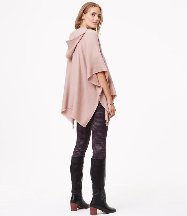 hooded pocket poncho