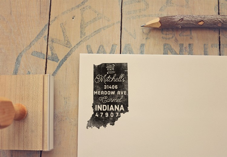 indiana return address stamp