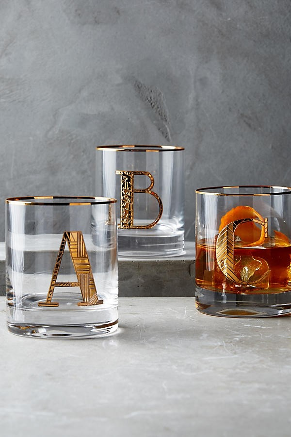 monogram bar glass