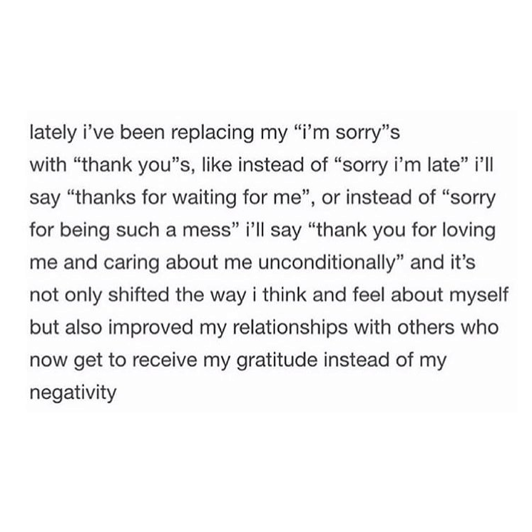 thank you instead of i'm sorry