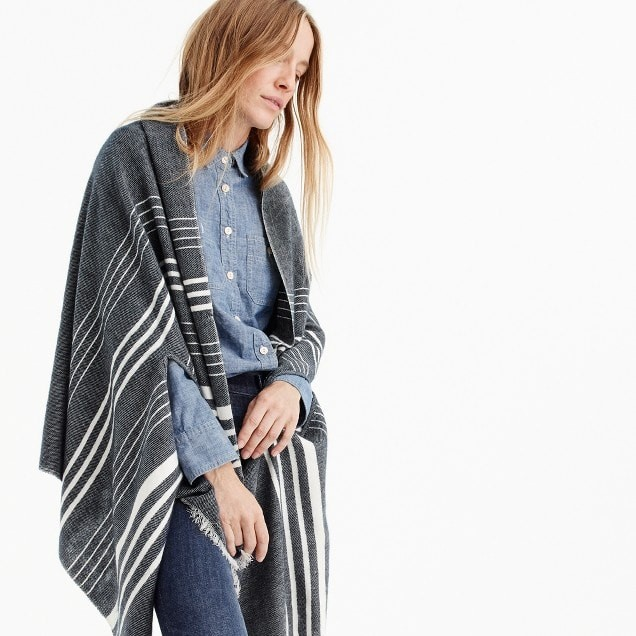 striped cape scarf